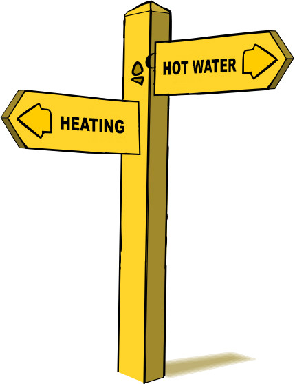Faulty Diverter Valve Sign
