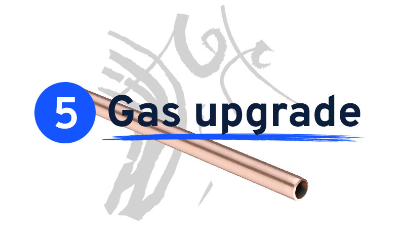 Gas upgrade cost